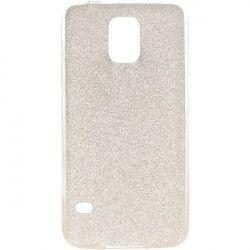 ETUI GUMA GLITTER SAMSUNG S5 I9600 SREBRNY