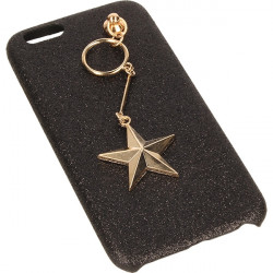 ETUI GUMA GLITTER STAR IPHONE 6 4.7'' CZARNY