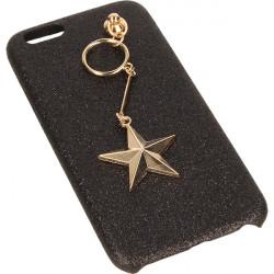 GUMA GLITTER STAR ETUI NA TELEFON IPHONE 6 4.7' A1586 /A1688 ' CZARNY