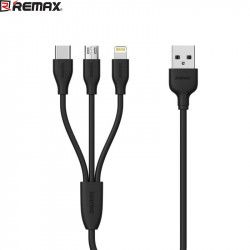 KABEL USB REMAX 3w1 RC-109th CZARNY