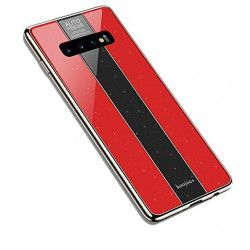 ETUI GLASS NA TELEFON SAMSUNG S10 PLUS CZERWONY