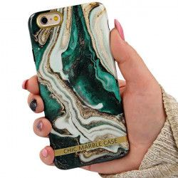 "ETUI CHIC MARBLE MARMUR IPHONE 6 4.7"" ZIELONY"