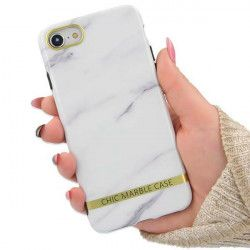 "ETUI CHIC MARBLE MARMUR IPHONE 7 4.7"" BIAŁY"