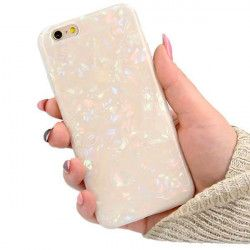 ETUI GUMA CRUSH LUXURY BLING IPHONE 6 BIAŁY