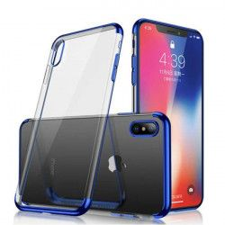 ETUI PLATING IPHONE X/XS NIEBIESKI