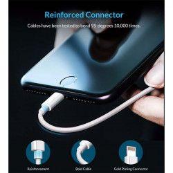 KABEL USB iPHONE 5G [szybkie ładowanie] BIAŁY