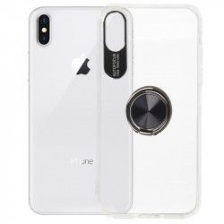 ETUI 3w1 RING 360 IPHONE X XS TRANSPARENTNY