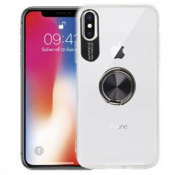 ETUI 3w1 RING 360 IPHONE X XS TRANSPARENTNY