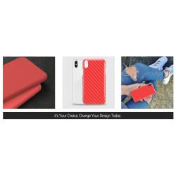 ETUI SMOOTH CARBON NA TELEFON SAMSUNG GALAXY J4 2018 CZERWONY