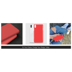 ETUI SMOOTH CARBON NA TELEFON SAMSUNG GALAXY A7 2018 CZERWONY