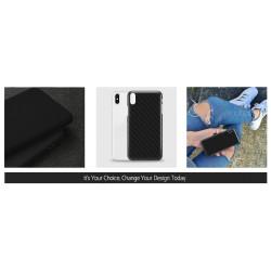 ETUI SMOOTH CARBON NA TELEFON HUAWEI Y7 2018 / Y7 PRIME 2018 CZARNY
