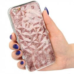 "ETUI GLASS DIAMONDS MARMUR NA TELEFON  IPHONE 6 4.7"" wzór1"