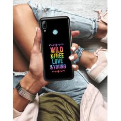 ETUI NA TELEFON HUAWEI P SMART 2019 NEON MIENIĄCE SIĘ ZLR111