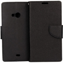 ETUI BOOK FANCY MICROSOFT LUMIA 535 CZARNY