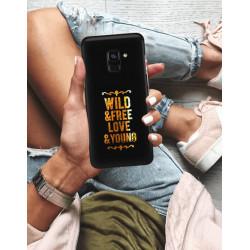 ETUI NA TELEFON SAMSUNG GALAXY A8 PLUS 2018 NEON MIENIĄCE SIĘ ZLC111