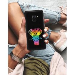 ETUI NA TELEFON SAMSUNG GALAXY A8 PLUS 2018 NEON MIENIĄCE SIĘ ZLR112