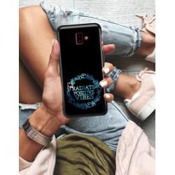 ETUI NA TELEFON SAMSUNG GALAXY J6 PLUS 2018 NEON MIENIĄCE SIĘ ZLJ160