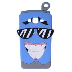 ETUI GUMA 3D CUP SAMSUNG GALAXY J3 2016 J3109 JASNY NIEBIESKI