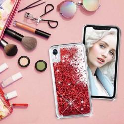 ETUI LIQUID SPARKLE NA TELEFON SAMSUNG A6 PLUS 2018 CZERWONY