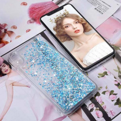 ETUI LIQUID SPARKLE NA TELEFON IPHONE XR NIEBIESKI