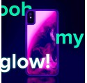 ETUI LIQUID NEON NA TELEFON IPHONE XR RÓŻOWY