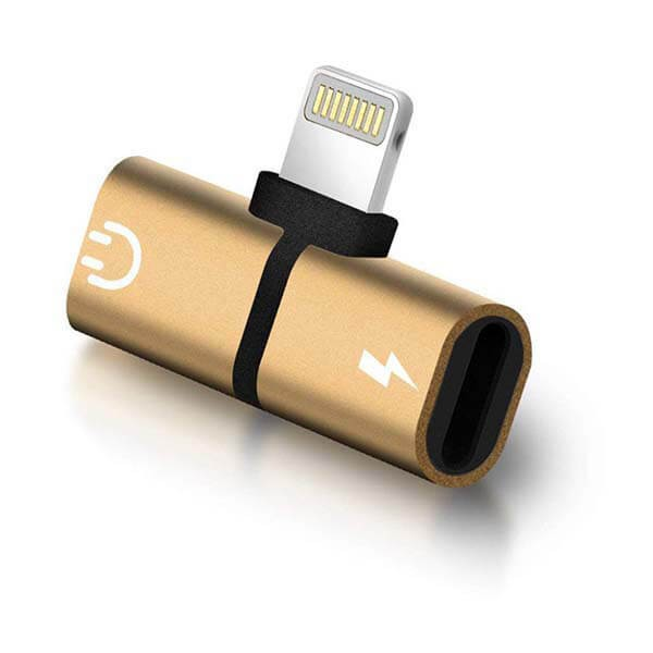 ADAPTER 2w1 IPHONE ZŁOTY