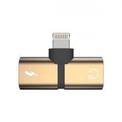 ADAPTER 2w1 IPHONE ZŁOTY