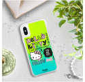 ETUI LIQUID NEON NA TELEFON IPHONE X/XS ZIELONY HelloKitty20