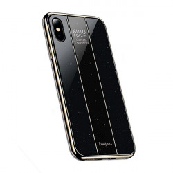 ETUI GLASS NA TELEFON IPHONE X / XS CZARNY