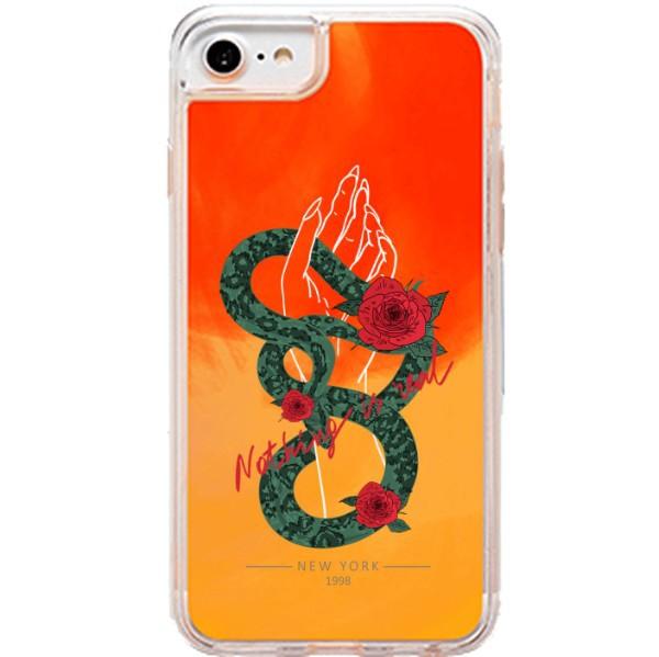 ETUI LIQUID NEON NA TELEFON APPLE IPHONE 6 / 6S Pomarańczowy ST_PCN115