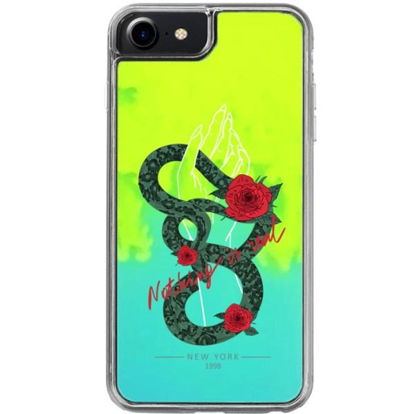 ETUI LIQUID NEON NA TELEFON APPLE IPHONE 7 / 8 Zielony ST_PCN115