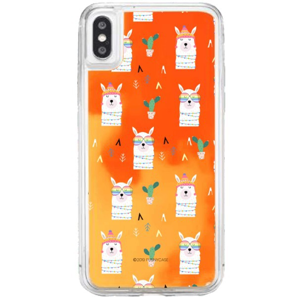 ETUI LIQUID NEON NA TELEFON APPLE IPHONE X / XS Pomarańczowy ST_ALP144