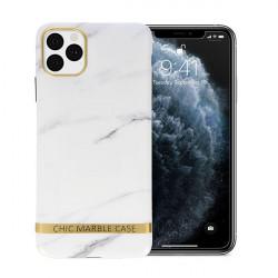 ETUI CHIC MARBLE MARMUR NA TELEFON IPHONE 11 PRO MAX BIAŁY