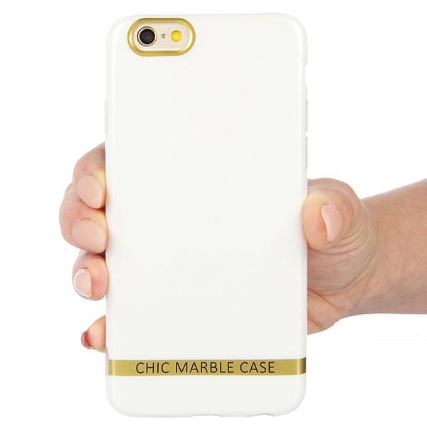 ETUI CHIC MARBLE MARMUR NA TELEFON IPHONE 6 PLUS / 6S PLUS BIAŁY WZ1