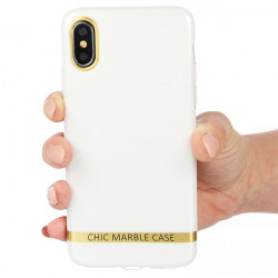 ETUI CHIC MARBLE MARMUR NA TELEFON IPHONE X / XS BIAŁY WZ1