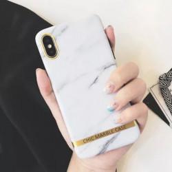 ETUI CHIC MARBLE MARMUR NA TELEFON IPHONE XR BIAŁY
