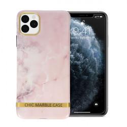 ETUI CHIC MARBLE MARMUR NA TELEFON IPHONE 11 PRO MAX RÓŻOWY