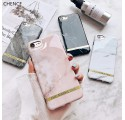 ETUI CHIC MARBLE MARMUR NA TELEFON IPHONE 7 PLUS / 8 PLUS RÓŻOWY