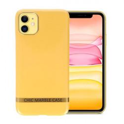 ETUI CHIC MARBLE MARMUR NA TELEFON IPHONE 11 ŻÓŁTY