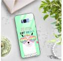 ETUI BLACK CASE GLASS NA TELEFON SAMSUNG GALAXY S8 PLUS ST_ALP104