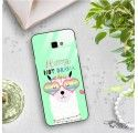 ETUI BLACK CASE GLASS NA TELEFON SAMSUNG GALAXY J4 PLUS 2018 ST_ALP104