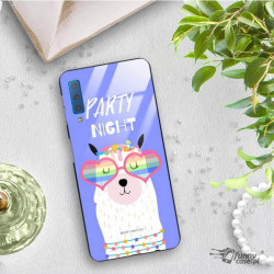 ETUI BLACK CASE GLASS NA TELEFON SAMSUNG GALAXY A7 2018 ST_ALP106