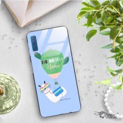 ETUI BLACK CASE GLASS NA TELEFON SAMSUNG GALAXY A7 2018 ST_ALP108