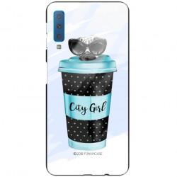 ETUI BLACK CASE GLASS NA TELEFON SAMSUNG GALAXY A7 2018 ST_FAN102