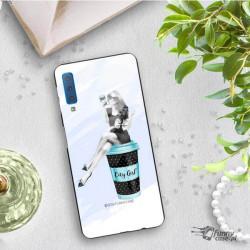 ETUI BLACK CASE GLASS NA TELEFON SAMSUNG GALAXY A7 2018 ST_FAN103
