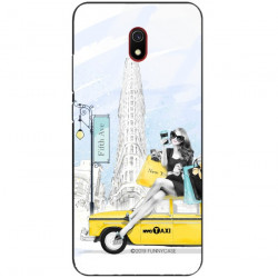 ETUI BLACK CASE GLASS NA TELEFON XIAOMI REDMI 8A ST_FAN106