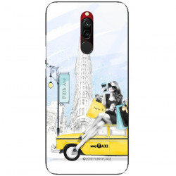 ETUI BLACK CASE GLASS NA TELEFON XIAOMI REDMI 8 ST_FAN106