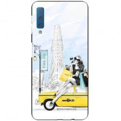 ETUI BLACK CASE GLASS NA TELEFON SAMSUNG GALAXY A7 2018 ST_FAN106