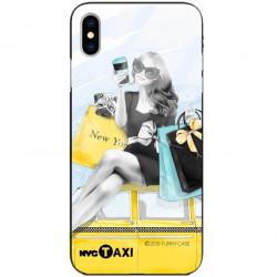 ETUI BLACK CASE GLASS NA TELEFON APPLE IPHONE X / XS ST_FAN112