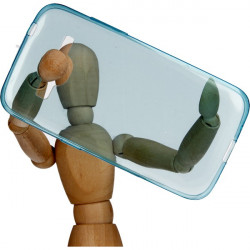 ETUI CLEAR NA TELEFON SAMSUNG GALAXY CORE PRIME NIEBIESKI